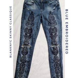 [BLANKNYC] Skinny Classique Embroidered Jeans